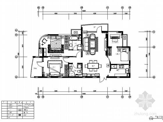 [浙江]豪华亮丽120平欧式风格三居室样板房室内装修施工图(含软装方案效果图)