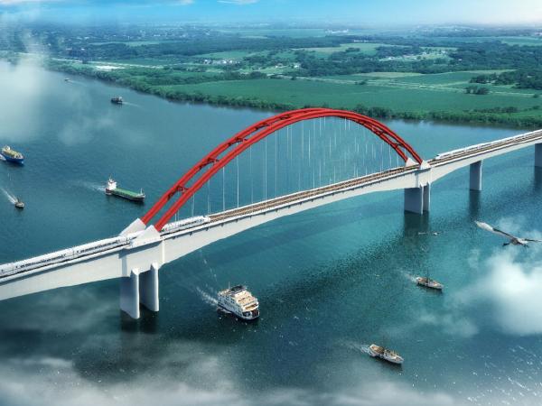 高速铁路大桥转体施工测量方案