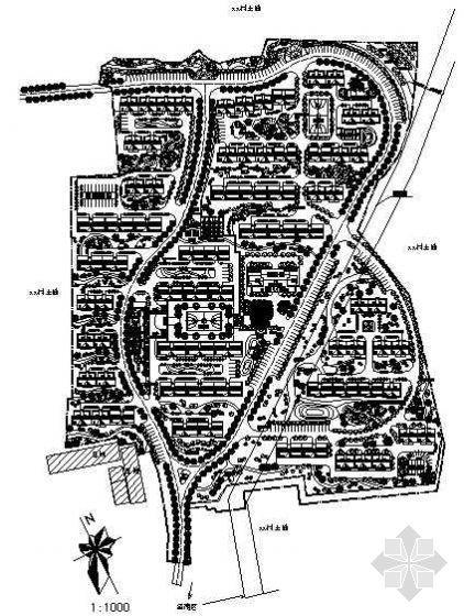某旧村改造北区规划图