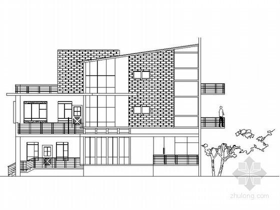 某三层湖边别墅建筑方案图(含效果图)