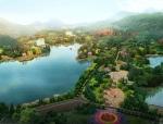 南昌县梦湖旅游度假区总体规划鸟瞰图设计-2013