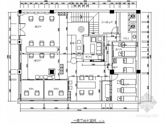 [广州]欧陆风格奢华美容美发店室内装修施工图(含效果图)