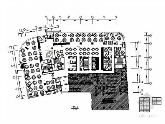 [广州]全国连锁饮食集团现代高档餐厅室内装修施工图(含实景)