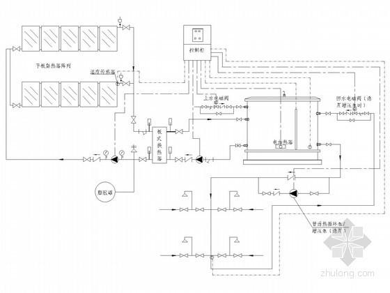 太阳能热水系统给排水系统图(含泳池加热系统)