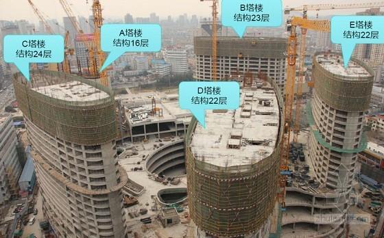 [江苏]筒体结构商业广场科技示范工程创优汇报(79页 大量附图)