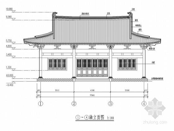 古建文殊殿建筑结构全套施工图