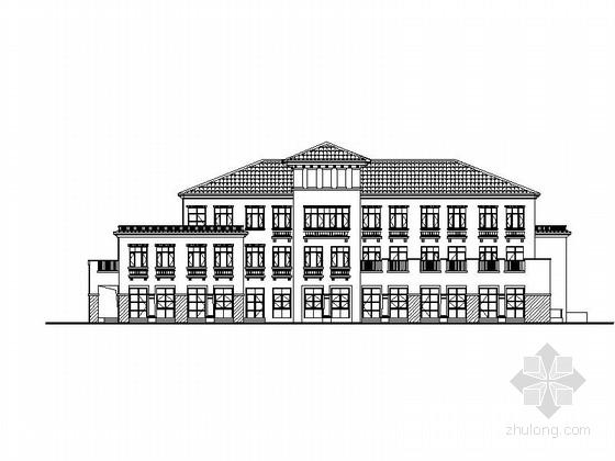[天津]三层简欧社区综合服务中心建筑施工图