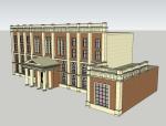 欧式办公建筑SketchUp模型下载