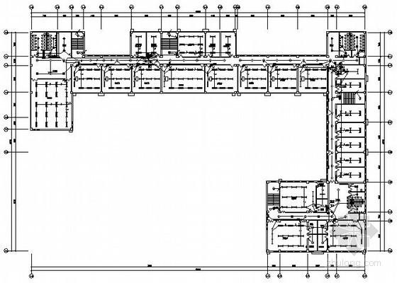 安置区四层教学楼全套完整电气施工图