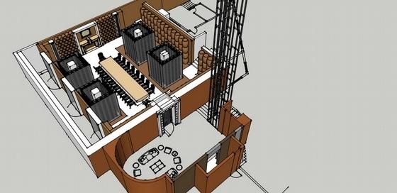 [天津]中外合资企业高档典雅红酒展厅设计方案图效果图