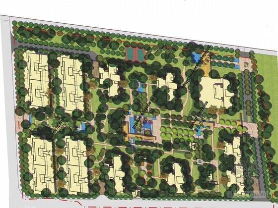 [武汉]新亚洲风格高档居住区景观规划设计方案