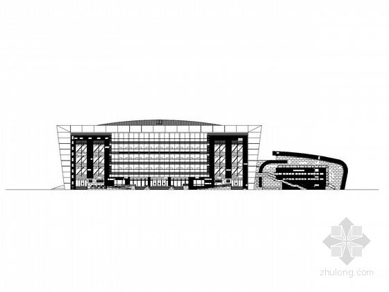 [上海]2层现代风格体育馆建筑施工图