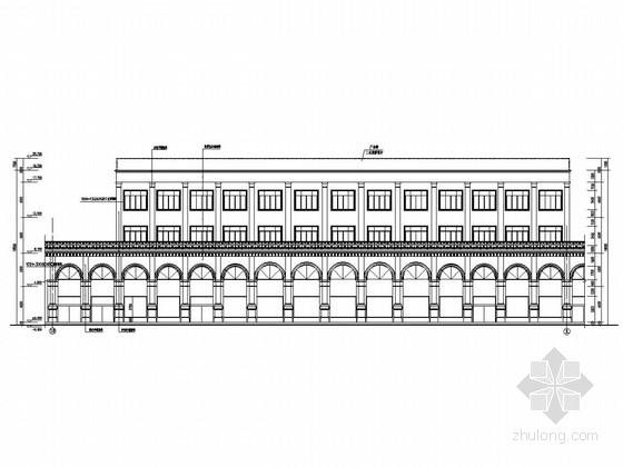 四层框架结构办公楼结构图(含建筑图)