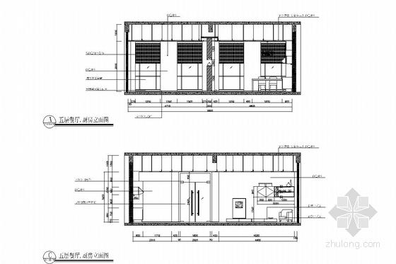 [浙江]皮革之都生产出口时尚皮草公司研发中心施工图 餐厅厨房
