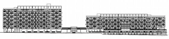 [深圳市盐田区]某十一层邻街商业住宅楼建筑施工套图(含总图带人防)