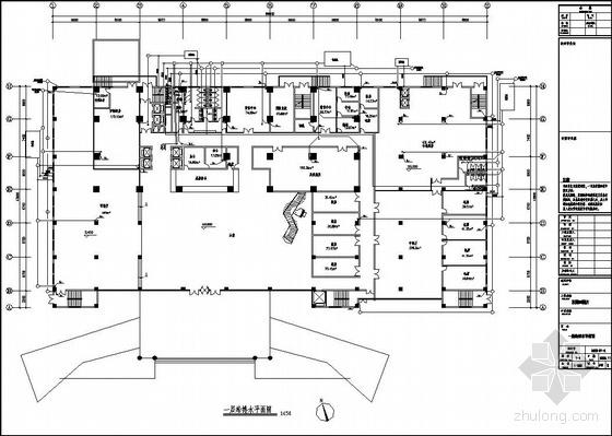 某25层五星级酒店给排水平面图