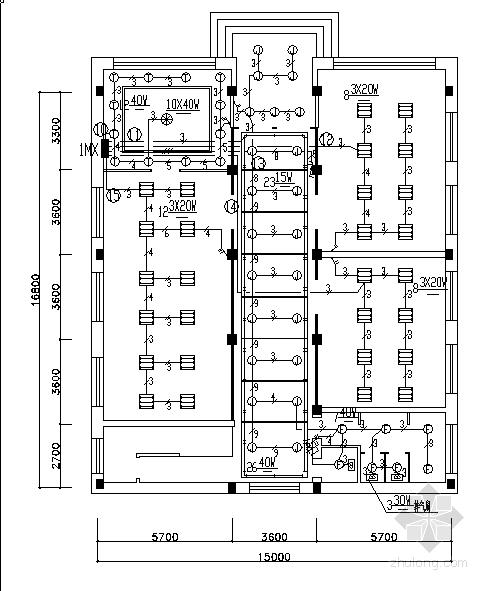 某工厂办公楼、职工食堂、多功能厅电气施工图