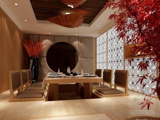 日式餐厅包间3d模型下载