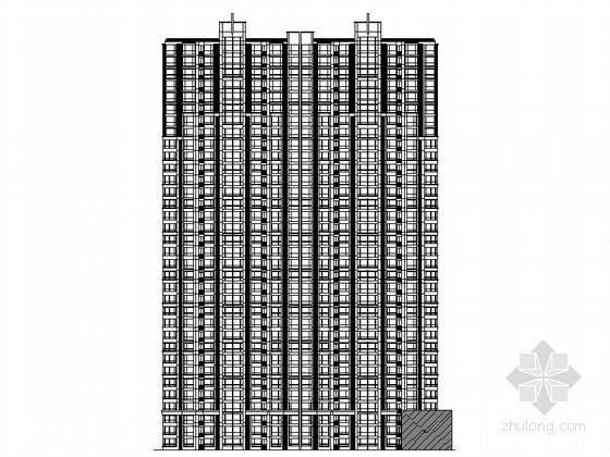 [石家庄]某商业广场三十三层(一梯四)住宅楼建筑施工图
