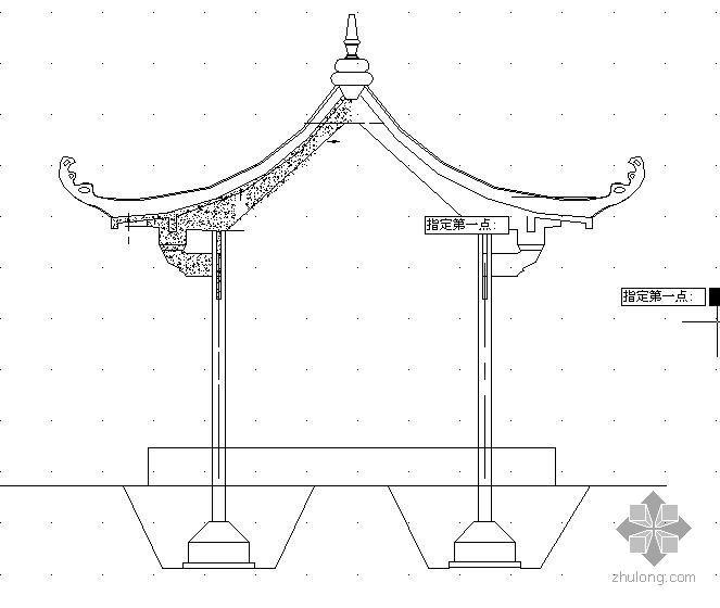 六角亭结构图