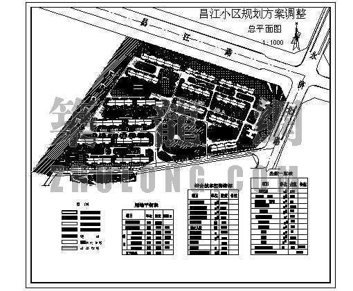 昌江小区规划总图