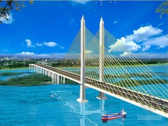 [吉林]跨江独塔双索面预应力混凝土斜拉特大桥施工组织设计(含引桥 鲁班奖)