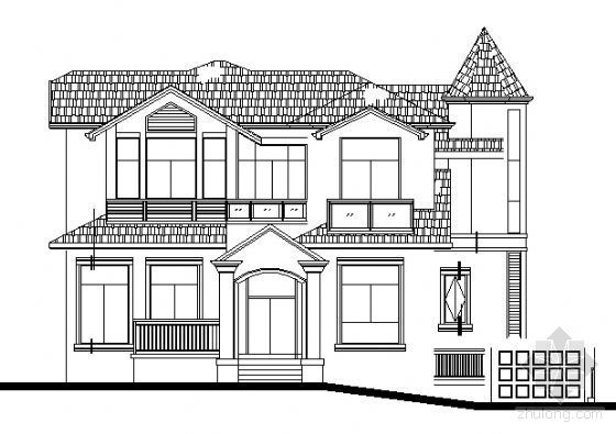 某二层欧式风格别墅建筑施工图