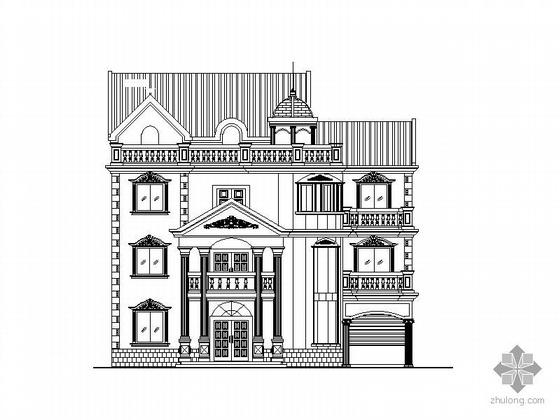 某三层欧式度假别墅建筑施工图(含效果图)