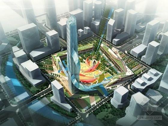 [成都]综合性城市商务区景观规划设计方案