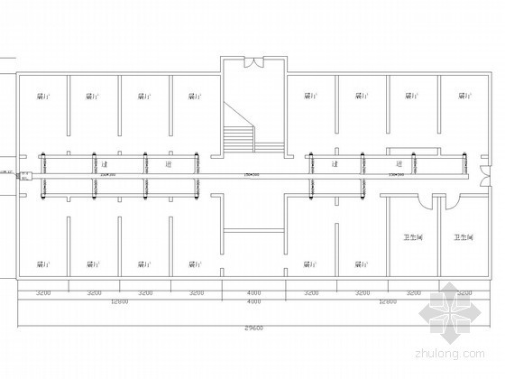 [陕西]大学纪念馆空调通风系统设计施工图(风冷热泵机组)