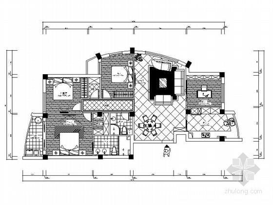 [广东]温馨家园简欧四居室装修图(含效果预算)