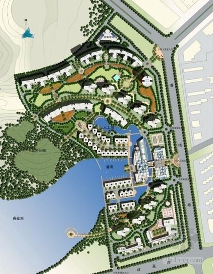 [深圳]意大利风情滨水居住小区规划设计方案