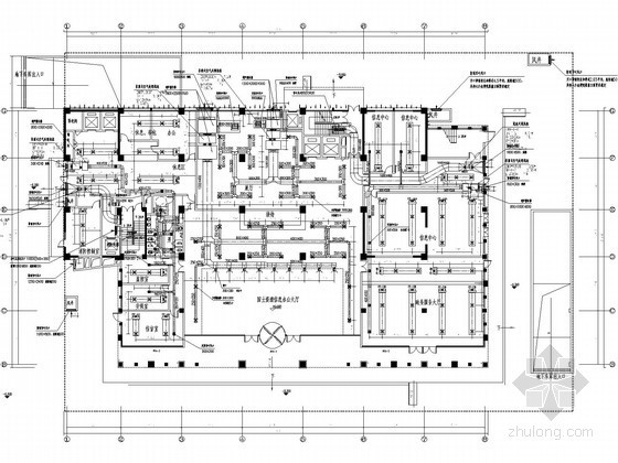 [陕西]市政办公大厦空调通风设计施工图(风冷热泵)