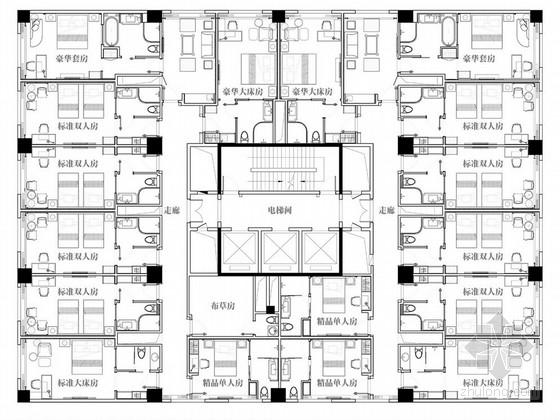 [云浮]简约欧式国际五星级酒店样板层方案图