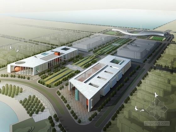 [山东]现代风格多层会展中心规划设计方案文本