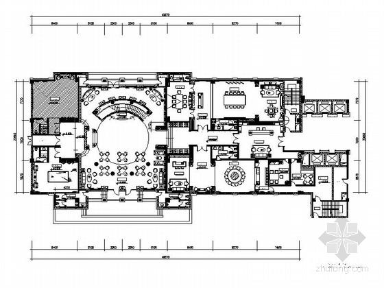 [浙江]超豪华国际欧式会所室内装修施工图(含效果)
