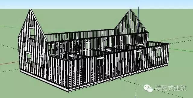 美国农村建房全程实拍——装配式木结构施工,速度快、性能好!_25