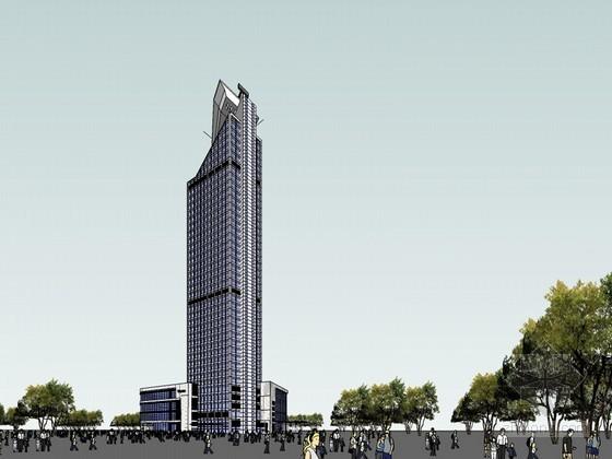 航空港大厦SketchUp模型下载