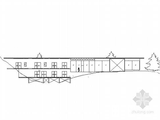 [长城脚下公社]某竹屋建筑方案图