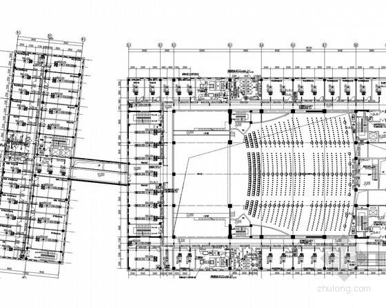 [新疆]重点大学办公楼及会堂空调采暖通风防排烟系统设计施工图(最新设计 热风幕系统)