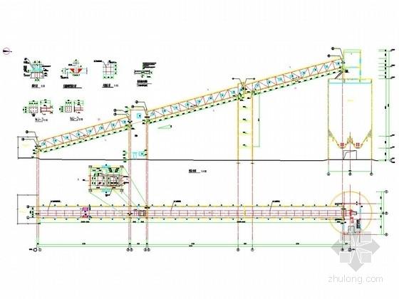[宁夏]煤矿钢结构栈桥施工图15张