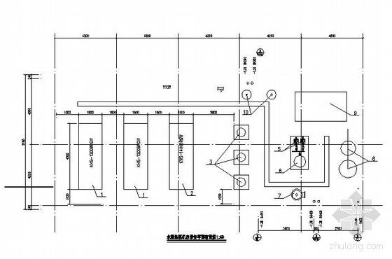 某商场水源热泵机房图