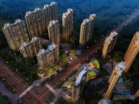 [湖北]景观式现代风格高层住宅小区规划设计方案文本(含CAD)