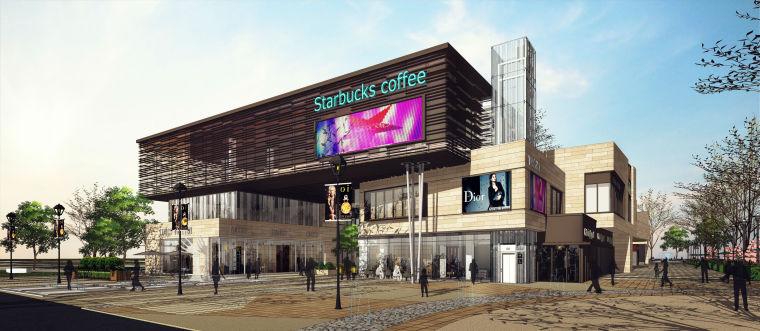 白沙某项目商业街方案模型设计