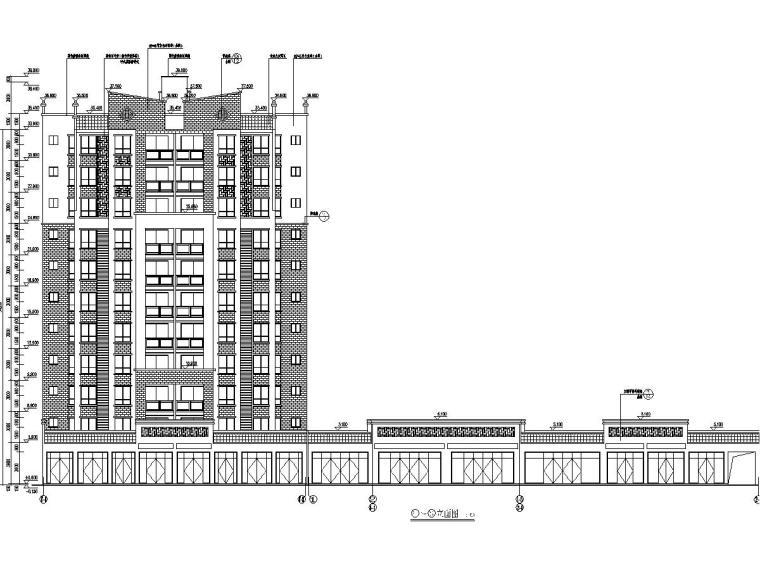 5200平11层剪力墙安置房建筑结构全套图(裙房底商)