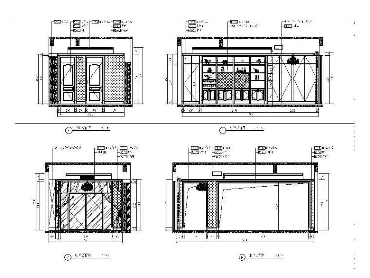 [青岛]全套别墅设计室内装饰施工图_3