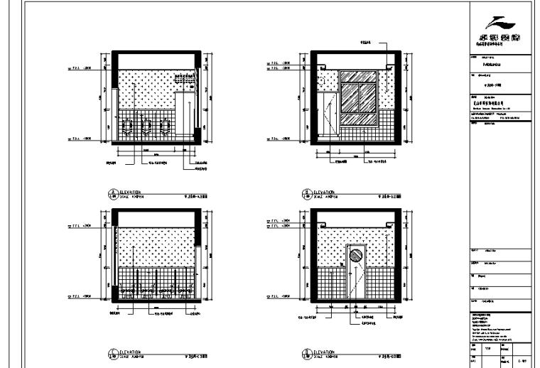 卫生间立面图