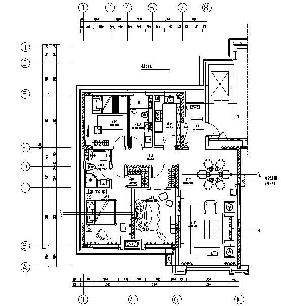 [辽宁]淡抹青墨—新中式风格住宅设计施工图及效果图