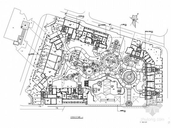 [广州]现代风格居住区绿化施工全套图纸
