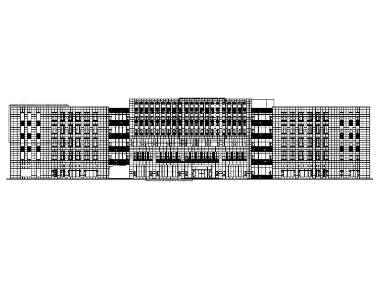 [浙江]五层办公楼石材及铝板幕墙建筑施工图